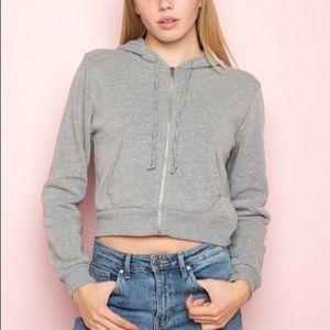 BRANDY MELVILLE | Zip up hooded cardigan